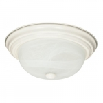 "2-Light 11"" Flush Mount Ceiling Light Fixture, Textured White"