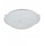 12in Tri-Clip Flush Mount, 1-Light, Textured White