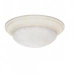 14in Flush Mount, Twist & Lock, 2-Light, Textured White