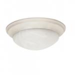 17in Flush Mount, Twist & Lock, 3-Light, Textured White