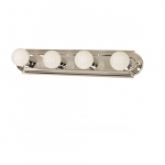 24in Vanity Light, Racetrack Style, 4-Light, Polished Chrome