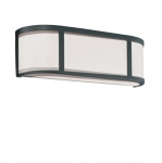 100W 5 in. Odeon Wall Sconce Light, White Satin, 4-Lights, Aged Bronze