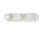 18in Vanity Light, Racetrack Style, 3-Light, Textured White