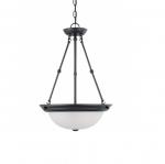 15in Pendant Light Fixture, 3-light, Mahogany Bronze