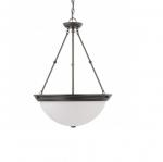 20in Pendant Light Fixture, 3-light, Mahogany Bronze