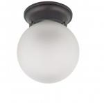 6in Ceiling Light Fixture, 1-light, Mahogany Bronze