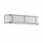 13W Odeon Wall Sconce Light, 3-Light, GU24 Base, Brushed Nickel