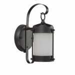 Outdoor Decorative Wall Light w/ GU24 Lamp, 1-light, Textured Black