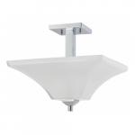 60W Parker Semi-Flush Mount Ceiling Light Fixture, Polished Chrome