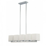 60W 5-Light Island Pendant Fixture, Polished Chrome
