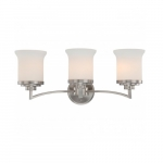Harmony Vanity Fixture, Satin White Glass