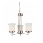 Harmony Chandelier, Satin White Glass