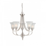 Surrey Chandelier Light, Frosted Glass