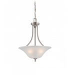 Surrey Pendant Light, Frosted Glass