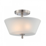 Surrey Semi Flush Light, Frosted Glass