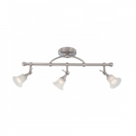 Surrey Fixed Track Bar, Frosted Glass, Halogen Lamps Included
