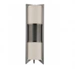 60W Diesel Sconce Light, Vertical, Khaki Fabric Shade, Hazel Bronze