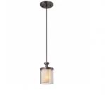 60W Decker Chandelier, Clear & Cream, 1-Light, Sudbury Bronze