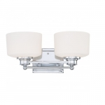 Soho Vanity Light Fixture, Satin White Glass