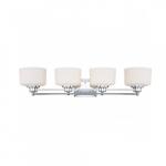 Soho Vanity Light Fixture, Satin White Glass