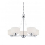 Soho Chandelier Light, Satin White Glass
