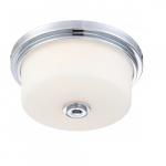 Soho Medium Flush Light Fixture, Satin White Glass