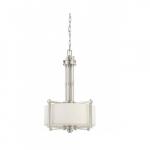 Wright Pendant Light, Satin White Glass