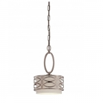 Harlow Mini Pendant Light, Khaki Fabric Shade