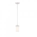 Polaris Mini Pendant Light, White Opal Glass