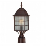 "17"" Adams Outdoor Post Light, Frosted Glass"