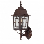 "17"" Banyon Outdoor Wall Lights, Clear Water Glass, Rustic Bronze"