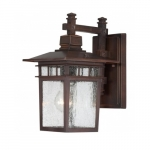 "12"" Cove Neck Outdoor Lantern Light, Clear Seed Glass"