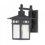 "14"" Cove Neck Outdoor Lantern Light, Clear Seed Glass"