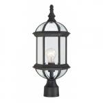 "100W 19"" 1-Light Outdoor Post Lantern, Textured Black"