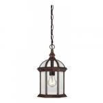 "100W 14"" Outdoor Hanging Light, Rustic Bronze"