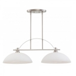 60W Island Pendant Light, Brushed Nickel