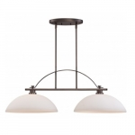 60W Island Pendant Light, Hazel Bronze