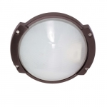 11in Outdoor Light, Oblong Round, Architectural Bronze