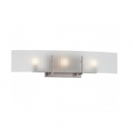 40W Yogi Vanity Light Fixture, Halogen, 3-Light, Brushed Nickel