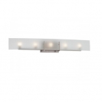 40W Yogi Vanity Light Fixture, Halogen, 5-Light, Brushed Nickel