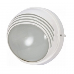 10in Bulk Head Light, Round Hood, White