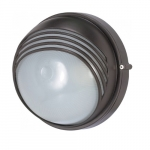 10in Bulk Head Light, Round Hood, Architectural Bronze