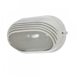 10in Bulk Head Light, Oval Hood, White