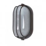 10in Bulk Head Light, Oval Cage, Architectural Bronze