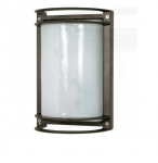 10in Bulk Head Light, Rectangle, Architectural Bronze