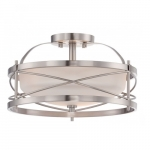 Ginger Semi Flush Light, Brushed Nickel