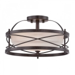 Ginger Semi Flush Light, Old Bronze