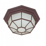 12in Outdoor Flush Mount Light, Spider Cage, Old Bronze