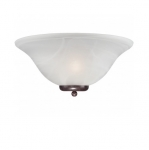 60W Ballerina Wall Sconce Light, Alabaster Glass, Old Bronze