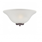 60W Ballerina Wall Sconce Light, Frosted Glass, Mahogany Bronze